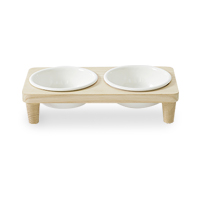 Woolly WOOD PET BOWL (2口)