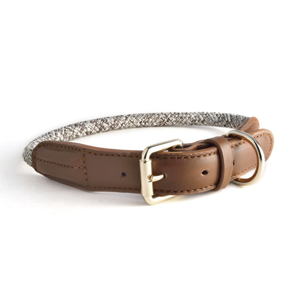 【HIGH5DOGS】ロープカラー(Rope Collars - Metropolitan Collection) ベージュ